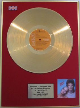 DAVID BOWIE - 24 Carat  LP  Gold  Disc - PIN-UPS